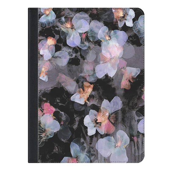 9.7-inch iPad Covers - Watercolor painted delicate pansy petals