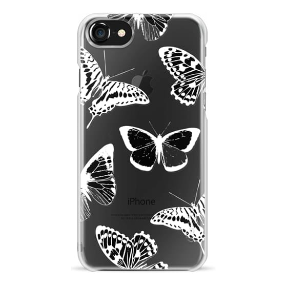 iPhone 6s Cases - White ink and pen butterflies