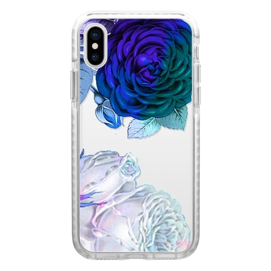 iPhone 7 Plus Cases - White blue roses clear