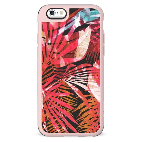 vibrant painted tropical leaves