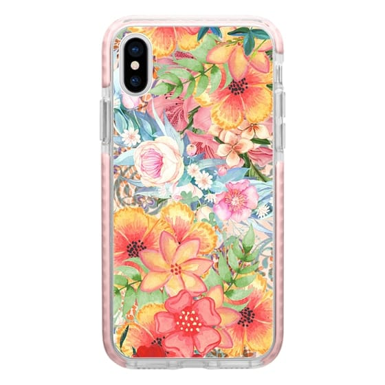 iPhone 6s Cases - Colorful watercolor romantic flowers