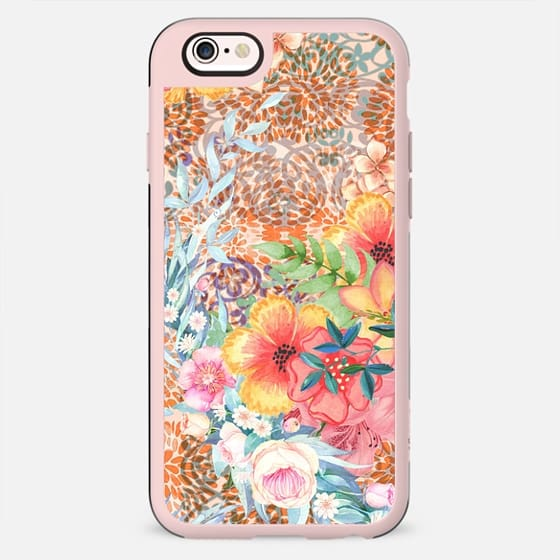 romantic colorful painted flowers - New Standard Case