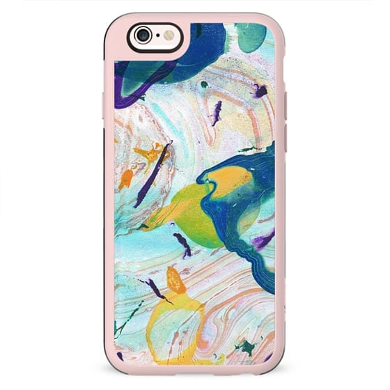 Colorful painted liquid marble