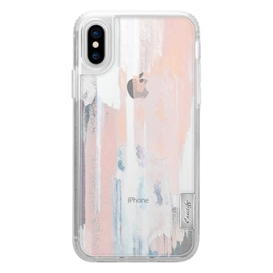 iPhone 7 Plus Cases - Abstract pastel painted brushes clear case