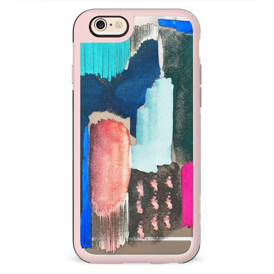 Abstract colorful clear case painting