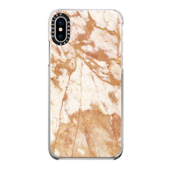 iPhone 6s Cases - Light golden cracks marble III