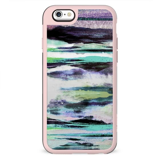 Painted abstract landscape stripes clear