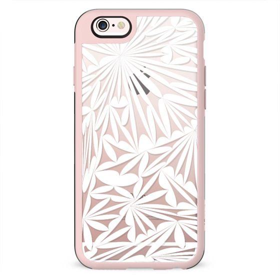 White transparent floral lace
