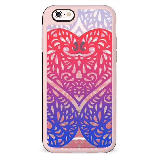 lace hearts gradient clear case