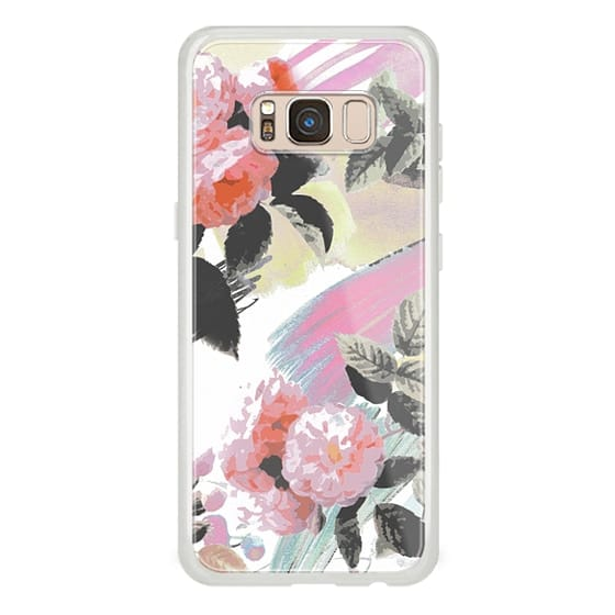 iPhone 6s Cases - Pink romantic brushed roses and foliage