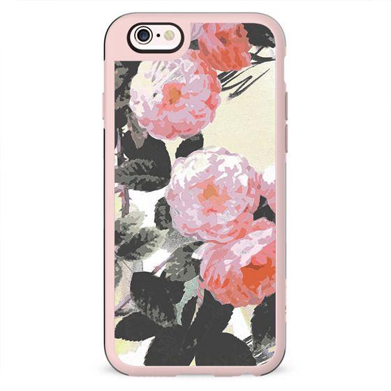 Watercolor romantic painted roses