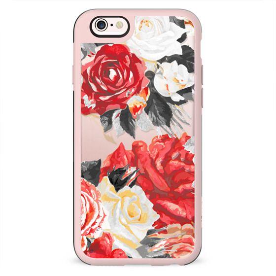 Romantic rose petals clear