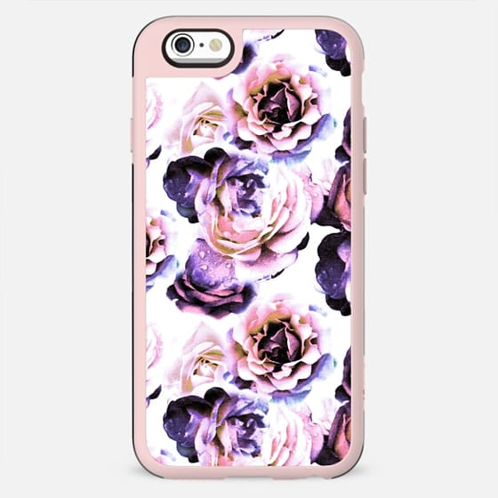Purple pink roses petals painting - New Standard Case