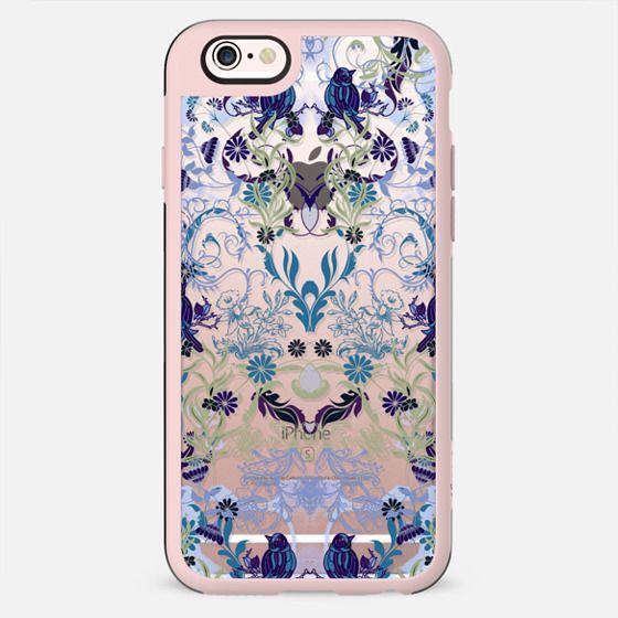 Bird, flowers, leaves elegant damask pattern - New Standard Case
