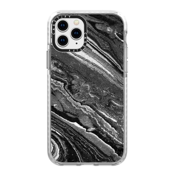 iPhone 11 Pro Cases - Monochrome marble lines