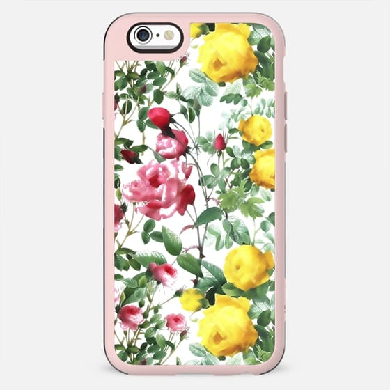 Botanical roses illustration pattern