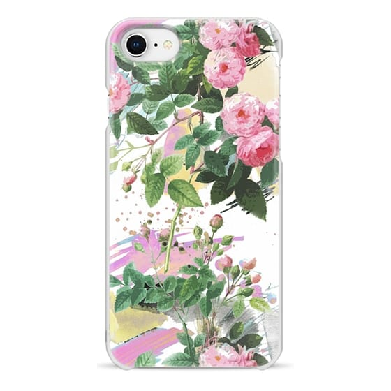 iPhone 6s Cases - Pink roses and paint splatter