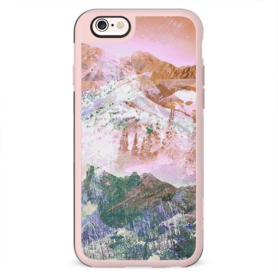 Pink mountain landscape