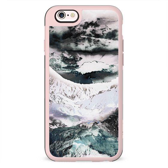Pastel painted mountain landscape