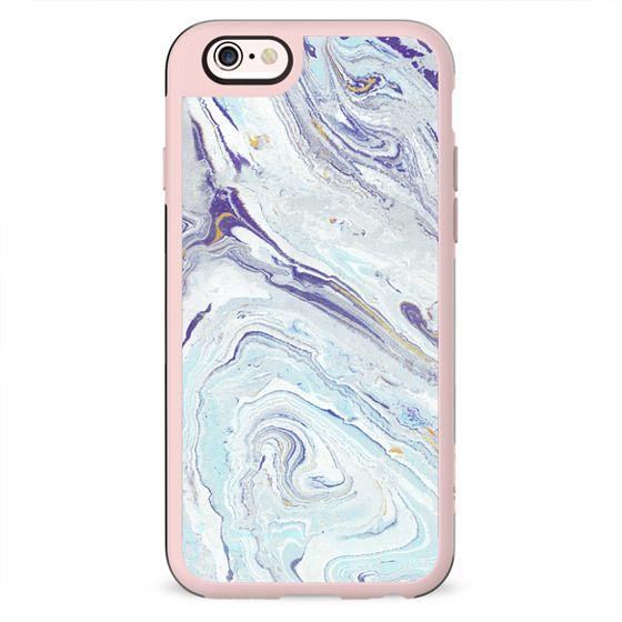 Pastel blue-purple marble