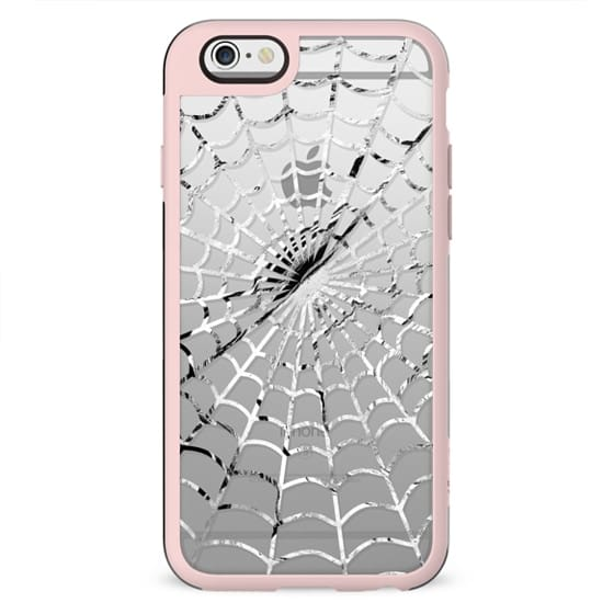 White spider web - Halloween clear case