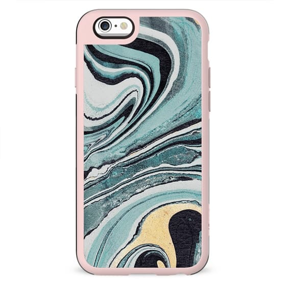 Liquid turquoise marble swirl
