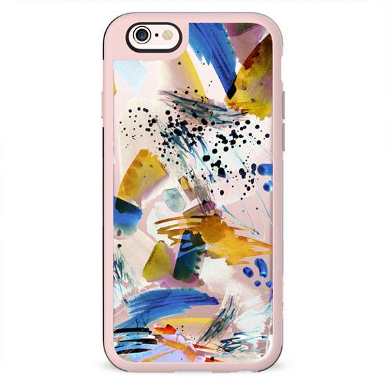 Paint splatter clear case