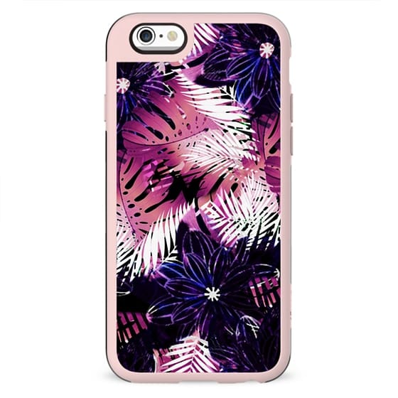 Palm and ficus leaves - tropical pattern