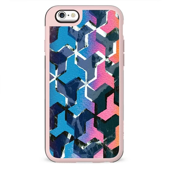 Colourful geometric marble collage