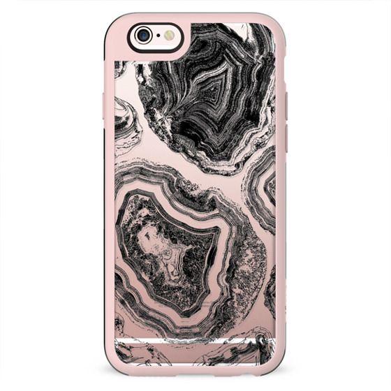Black linear agate marble