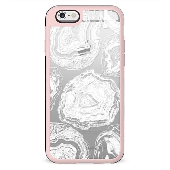 White agate marble - clear case