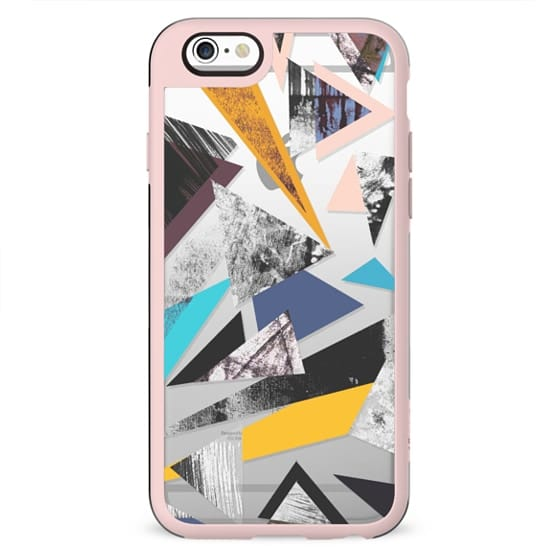 Abstract triangles painting clear case