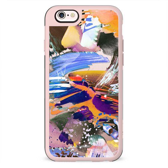 Colourful watercolor splatter