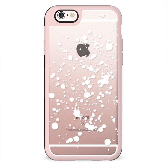 White snow clear splatter