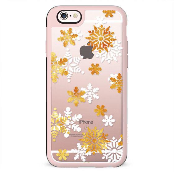 Gold-white snowflakes