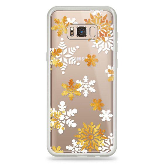 iPhone 6s Cases - Golden - white snowflakes