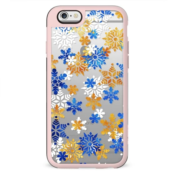 Christmas snowflakes clear case