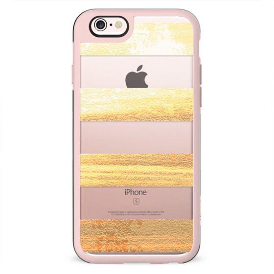 Golden stripes clear case
