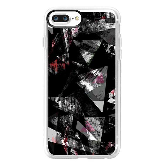 iPhone 7 Plus Cases - Grunge texture monochrome graffitti triangles