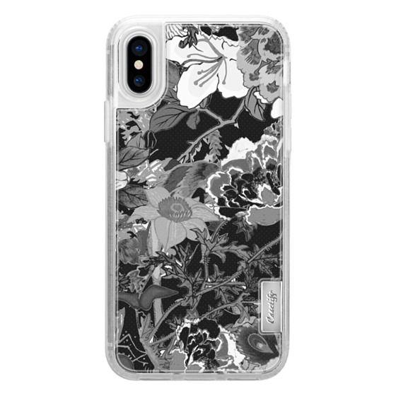 iPhone 7 Plus Cases - Monochrome oriental flowers illustration