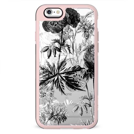 Sketched plants clear case