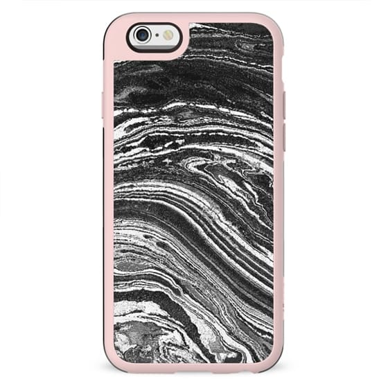 Monochrome marble waves