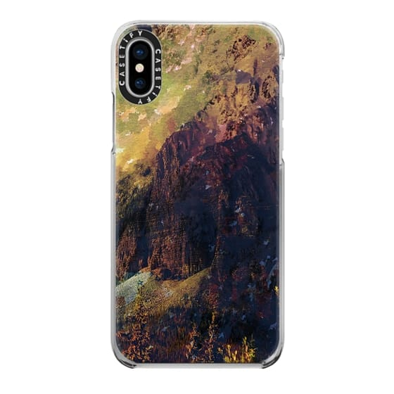 iPhone 6s Cases - Brown abstract mountain forest