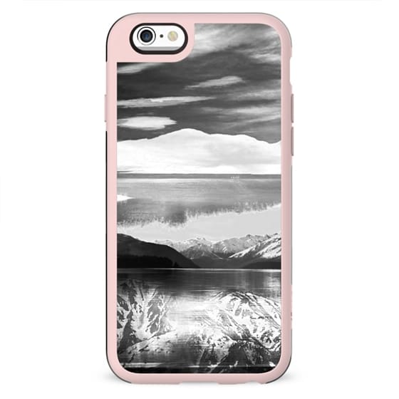 Winter monochrome mountain landscape