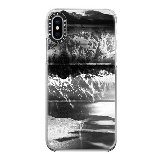iPhone 6s Cases - Winter monochrome mountain landscape