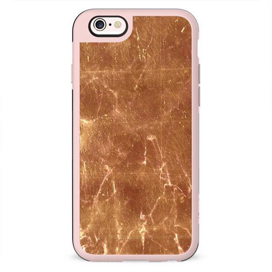 Slightly transparent golden marble cracks