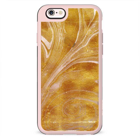 Golden foil marble swirl