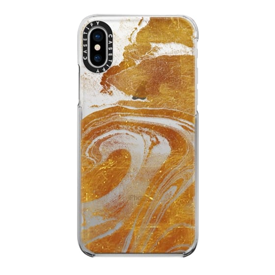 iPhone 6s Cases - Flowing gold marble