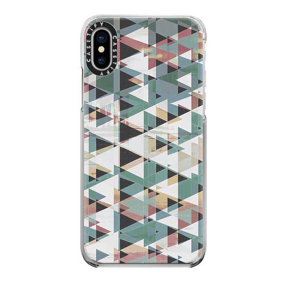 iPhone 7 Plus Cases - Geometric triangles glitch forest