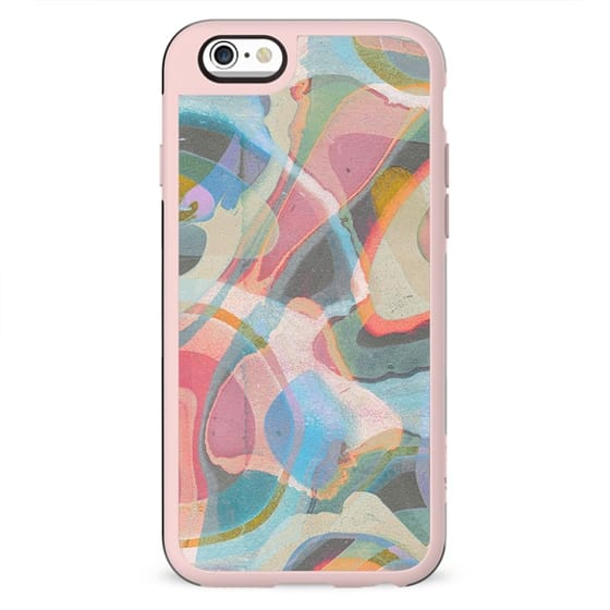 Abstract painted pastel marble